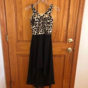 Cheetah Print High & Low Dress